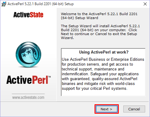 【Perl】Windows 10にActivePerlをインストール